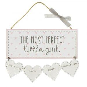 'LITTLE GIRL' DATA PLAQUE