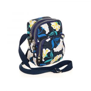 Navy Floral Cross Body Bag