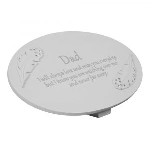 RESIN MEMORIAL PLAQUE DAD