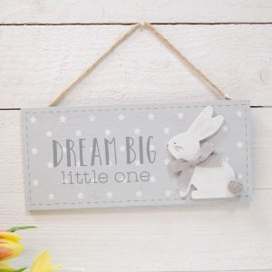 Dream Big LIttle One Baby Plaque