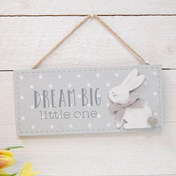 Dream Big LIttle One Baby Plaque