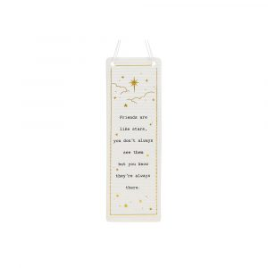 friends are like stars friendship plaque