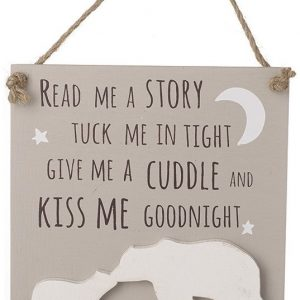 Hanging Wooden Tuck Me In Tight Plaque Gift For baby Girl or Baby Boy