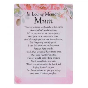 In Loving Memory Mum Mam