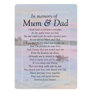 In Memory of mum and dad