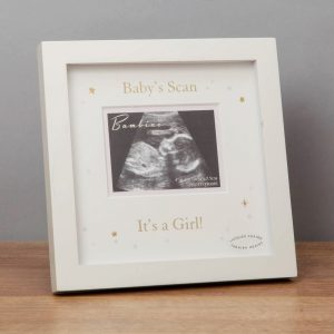 Its a baby girl scan frame