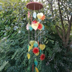 Rainbow Capiz Shell Chime