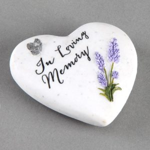 Thoughts of You In Loving Memory resin heart