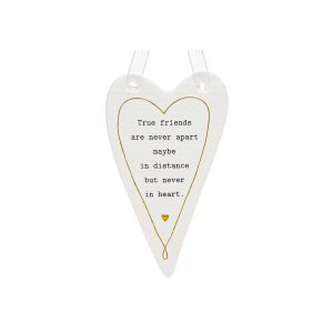 True Friends are Never Apart Ceramic White Heart
