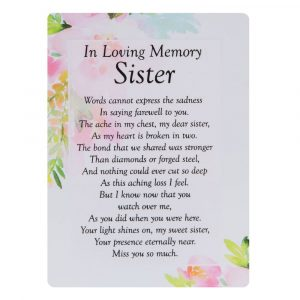 Graveside Memorial, Bereavement, In Loving Memory Sister Card