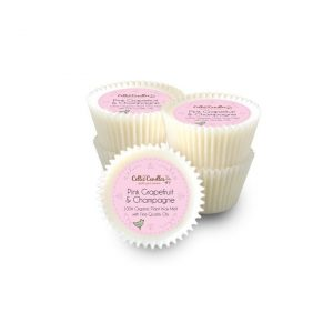 Pink Grapefruit and champagne, wax melts, celtic candles