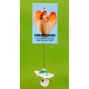 Crystal Angel Christening Boy Guardian Angel