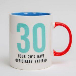 30th 20s have expired birthday mug