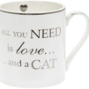 Love and a Cat Fine China Mug