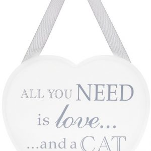 Love and a Cat Heart Plaque
