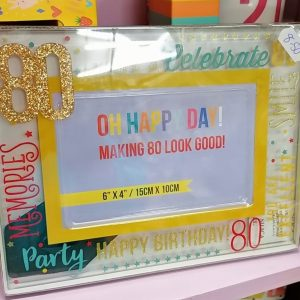 80th Birthday Colourful Frame