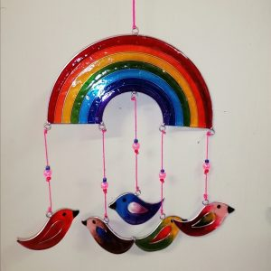 Rainbow and Birds Suncatcher