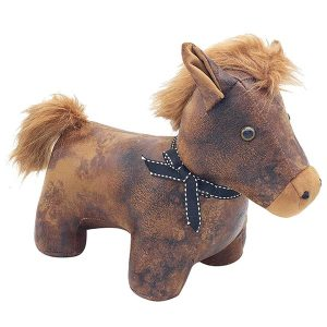 Horse Faux Leather Doorstop