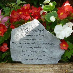 Grandad Those we love Memorial Stone