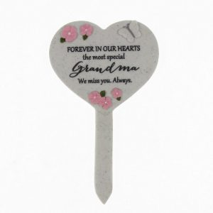 Forever In Our Hearts Grandma Heart Spike Plaque