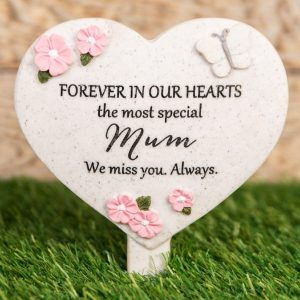 Forever In Our Hearts Mum Heart Spike Plaque