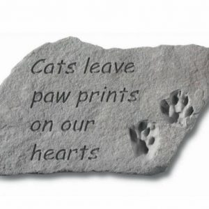 Cats Leave Pawprints Memorial Stone