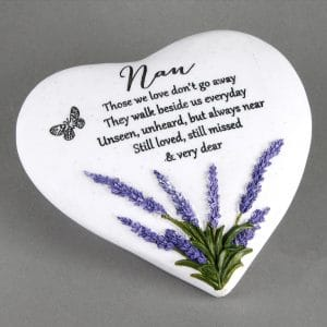 Nan Memorial Lavender Heart Stone