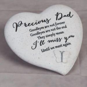 Graveside Heart Dad Butterfly