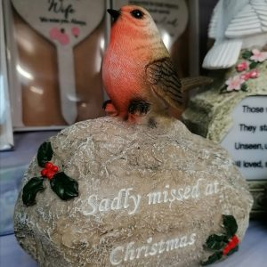 Christmas Robin Grave Ornament - Sadly Missed at Christmas 2